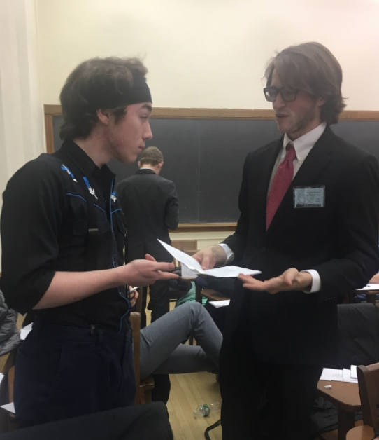 Denmark (Left) and Turkey (Right) engage in a spirited debate during an unmoderated caucus
