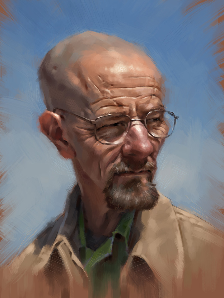 Bryan Cranston (Breaking Bad) Caricature by Will Pealatere