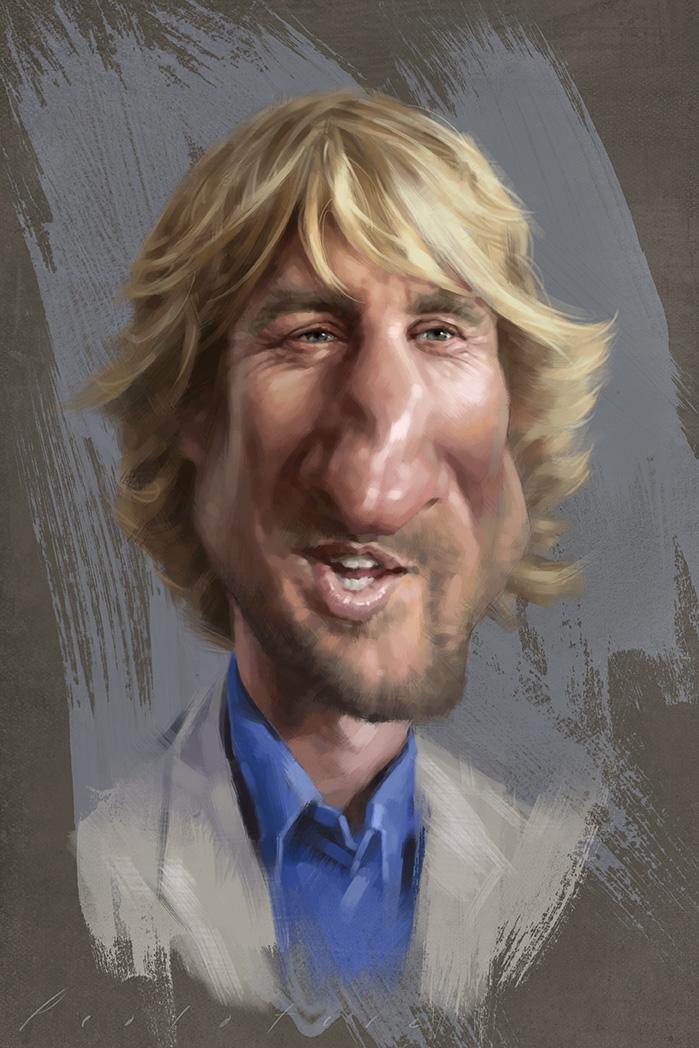 Owen Wilson Caricature by Will Pealatere