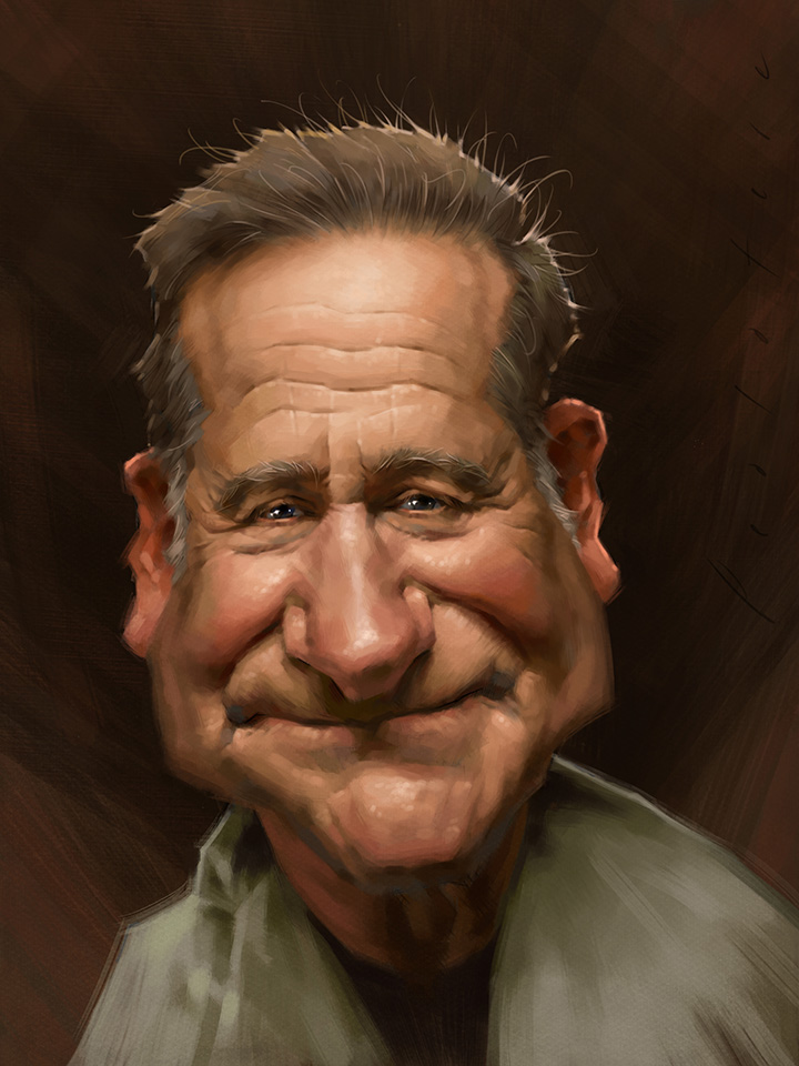 Robin Williams Caricature by Will Pealatere