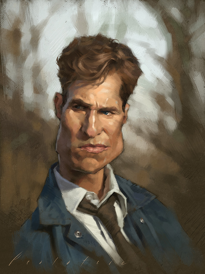 Matthew Mcconaughey (True Detective) Caricature by Will Pealatere