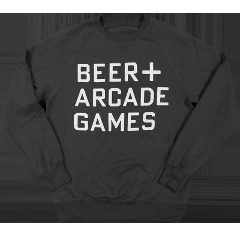 BEER+ARCADE - SWEATSHIRT — 16-Bit Bar+Arcade e7538238db1b