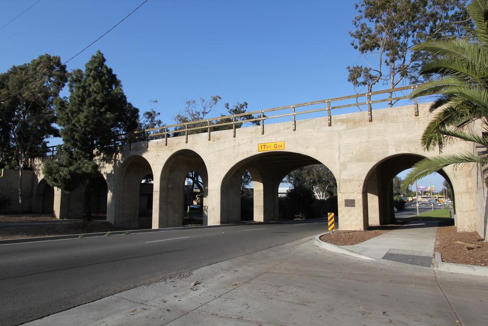 West elevation of the rehabilitated bridge.