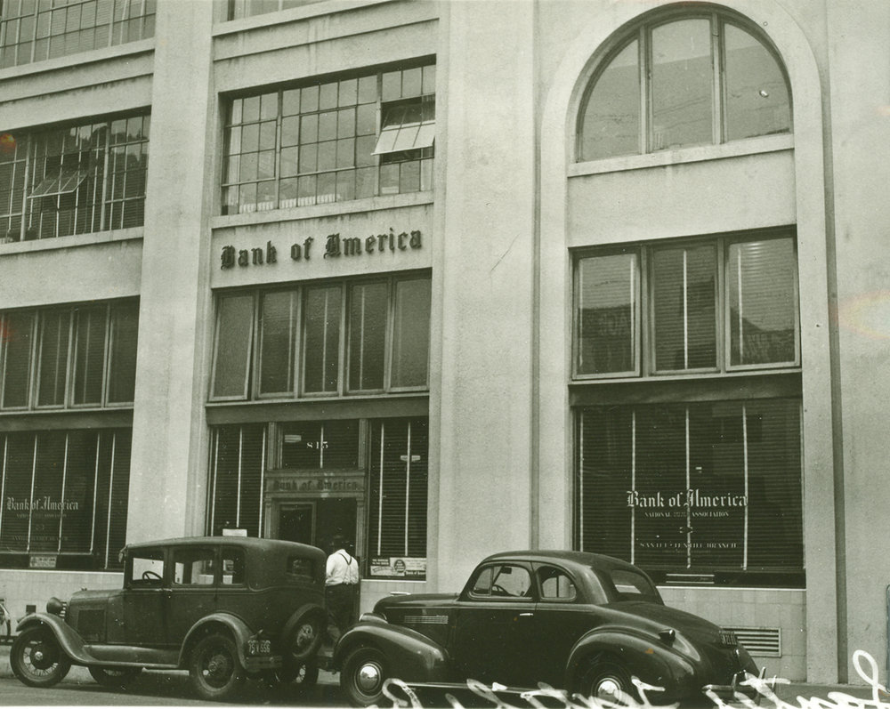 Maxfield Building facade, historic photograph.