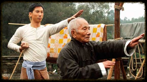 From the movie Ip Man. Pictured is Ip Man's son, Ip Chun, playing his father's teacher.