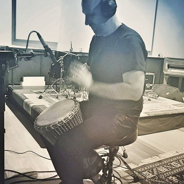 I love working with the djembe. It turns recording into a ritualistic experience. The physical act of drumming quiets the mind, lets it ride on a wave of motion and sound. Combined it opens doors to inner visions. I become the shaman, the dancer on the tides... #aeonchaser #oberonband #prophecyproductions #gnosticrock #djembe #ritualmusic #shaman #spiritual