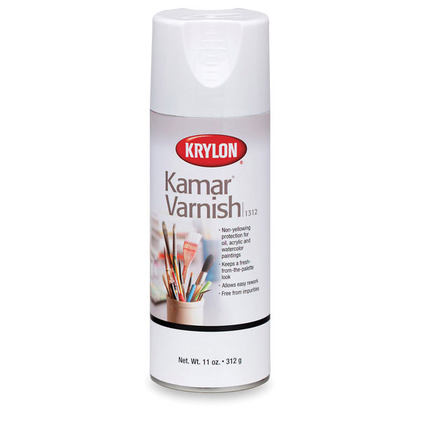 Kamar Varnish - Used as a first coat, followed by UV Archival.