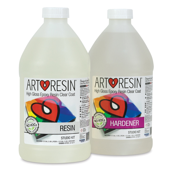 ArtResin - The IDEAL resin for sealing in your inkwork and giving it a polished, professional finish! Non-yellowing and no VOC's for the win!