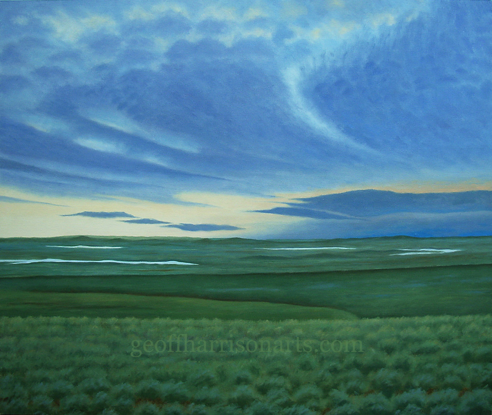 The Sky's beginning To Bruise  2014  Oil On Canvas  109 cm x 129 cm