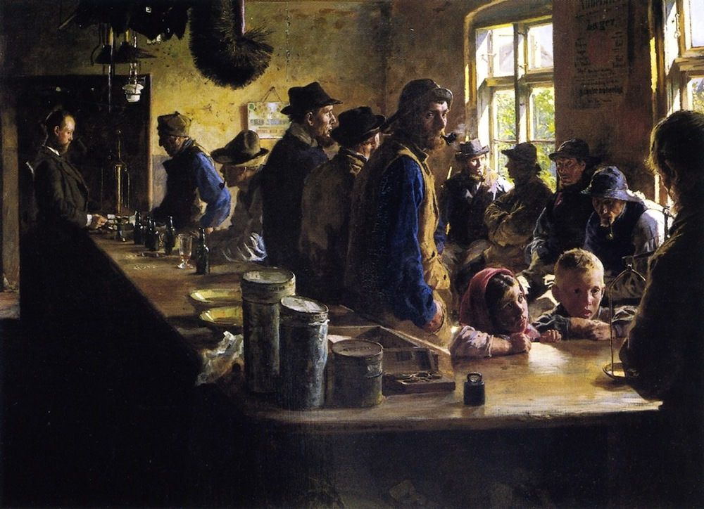 Kroyer - In The Store During A Pause From Fishing, 1882