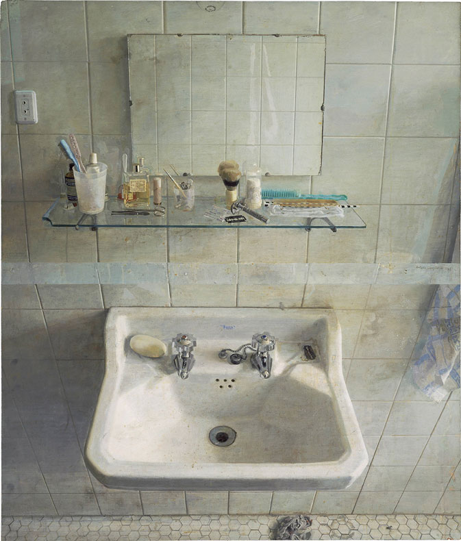 Sink and Mirror, 1967, Oil on Wood
