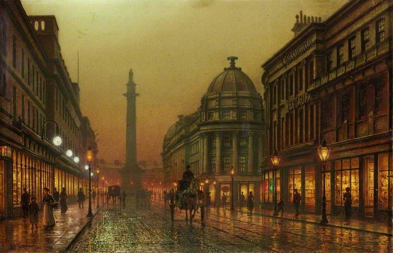 Grainger Street, Newcastle  1902                                                                            Louis Grimshaw