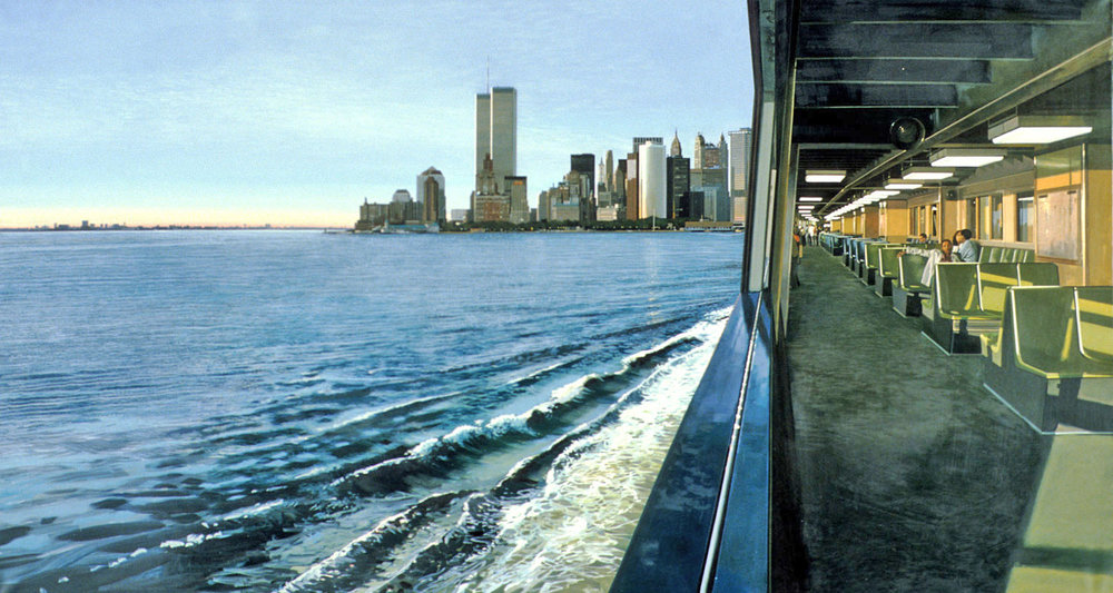 On The Staten Island Ferry  (1989)               Richard Estes                         Oil On Canvas