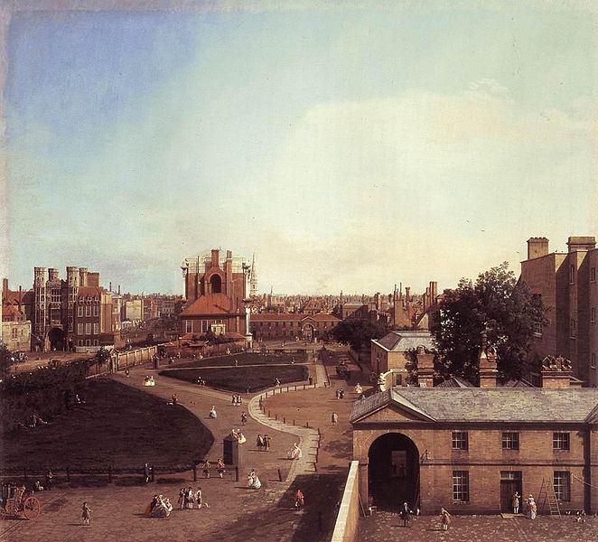 London, Whitehall & the Privy Garden   (1747)             Canaletto           Oil On Canvas