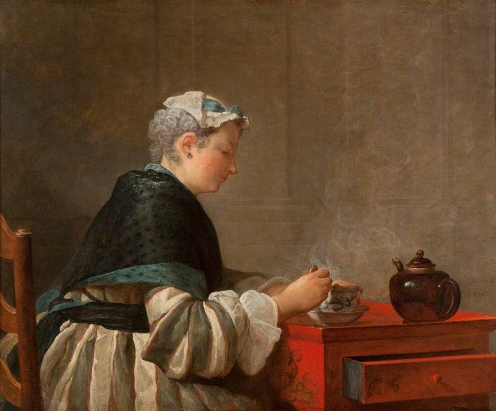 Chardin, A Lady Taking Tea, 1735