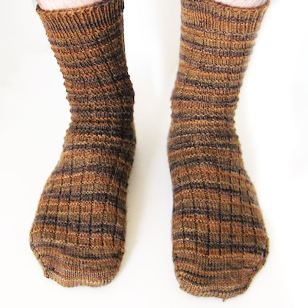 The Hubband Socks - Free Toe-Up Sock Knitting Pattern