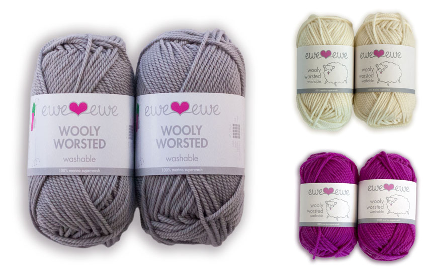 Berry Delightful - Main: Brushed Silver, Stripes: Vanilla, Cuffs: Berry