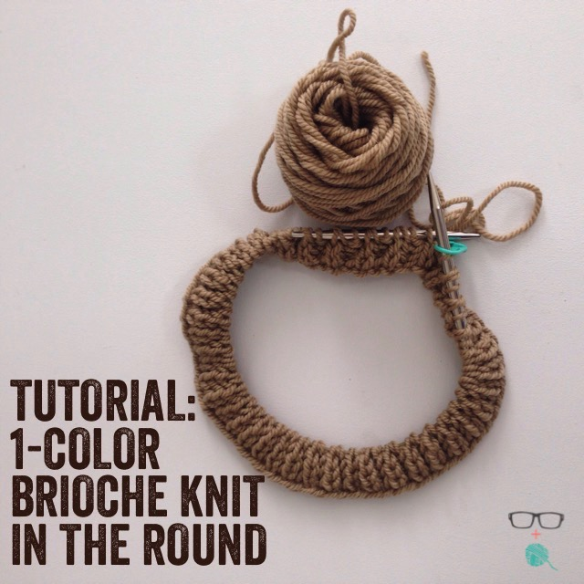 Knitting With Two Colors In The Round : How to one color brioche in the round unapologetic