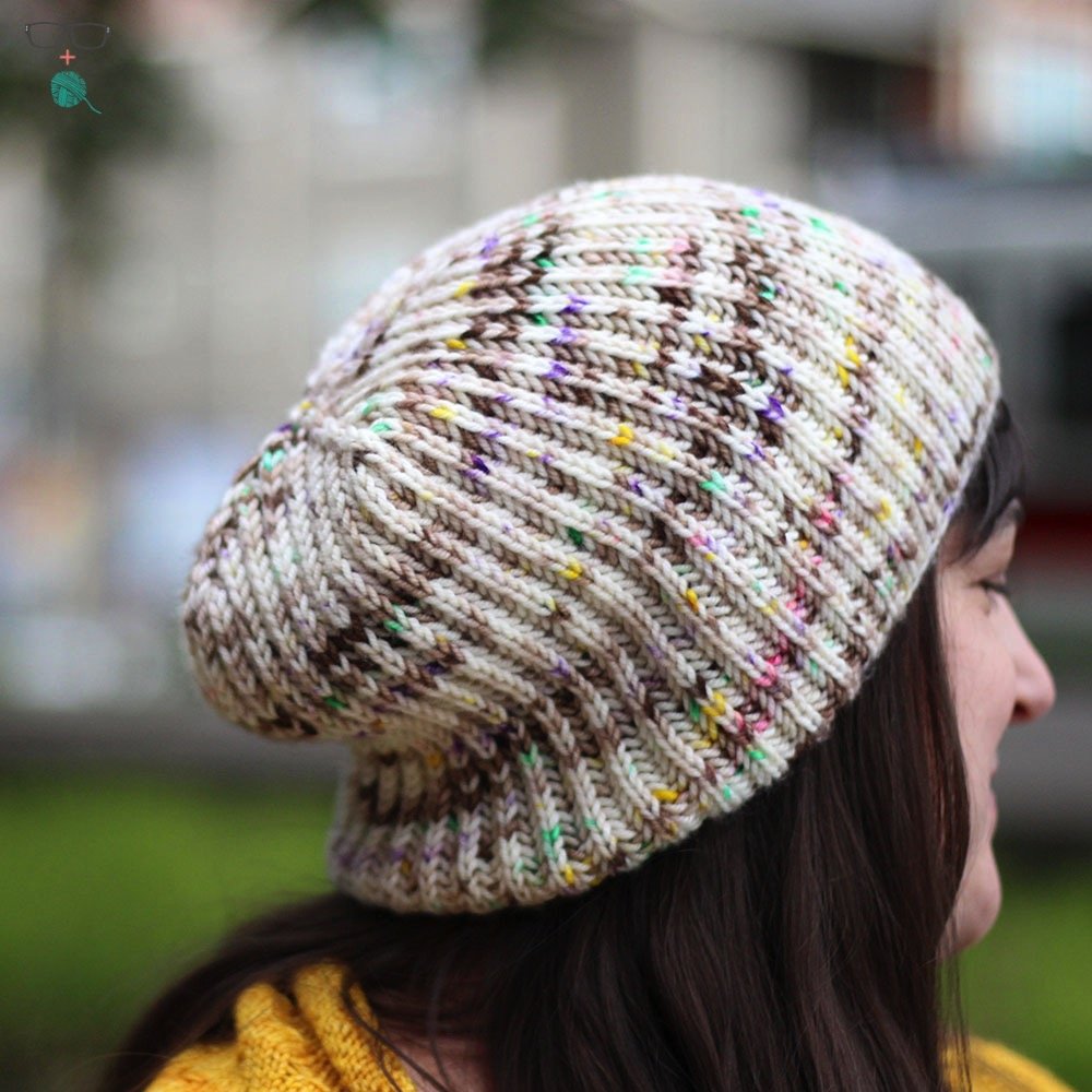 B to the Three - Free Brioche Hat Knitting Pattern