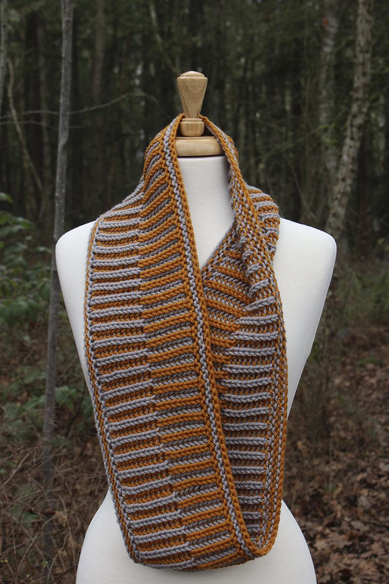 Basync Brioche - brioche knit cowl pattern