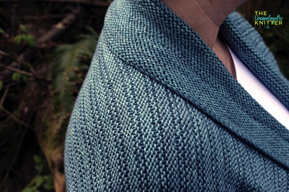 Point Reserve Cardigan - A top-down, seamless sweater knitting pattern.