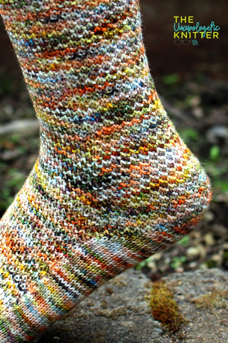 Island Wood - cuff down hand knit sock pattern