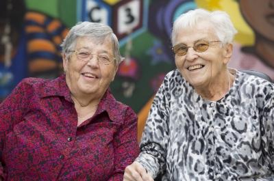 Sisters Berta Sailer and Corita Bussanmas