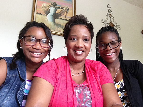 Beverly Cunningham and her 2 daughters; Maddison, 11, and Maurissa, 14.