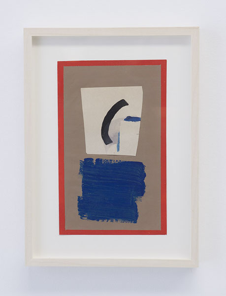 Untitled,  2011  Tempera, Gouache and Collage on paper  7.88 x 4.88 in  BERBE0270