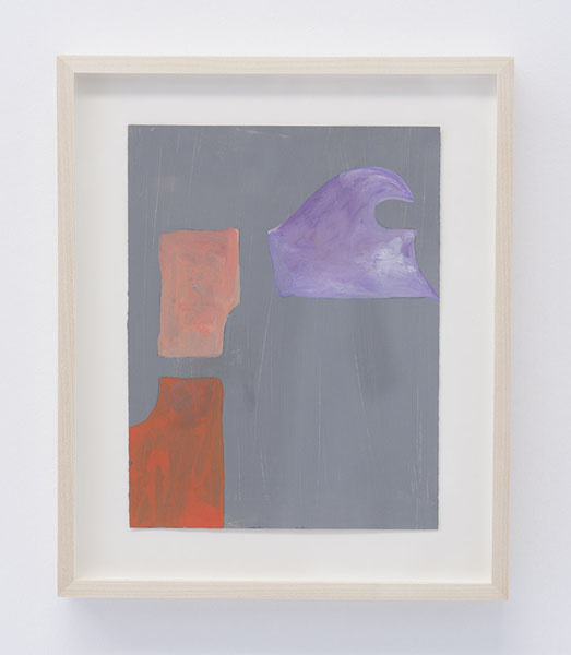 Untitled, 2011 Gesso and Gouache on paper 8.5 x 6.5 in BERBE0271