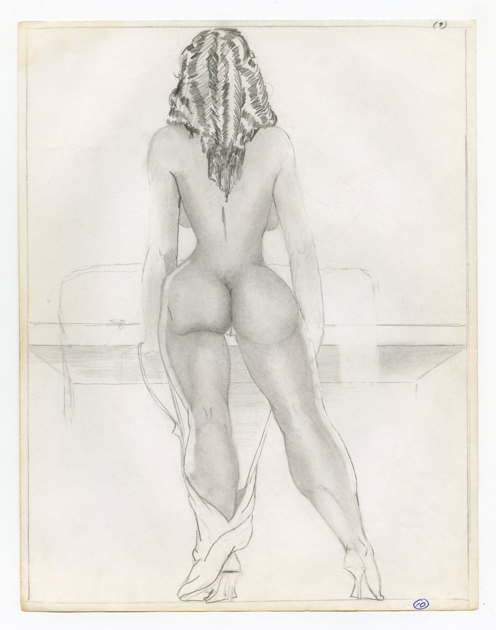 William Crawford  Untitled, Circa 1997  Graphite on paper  11 x 8.5 inches