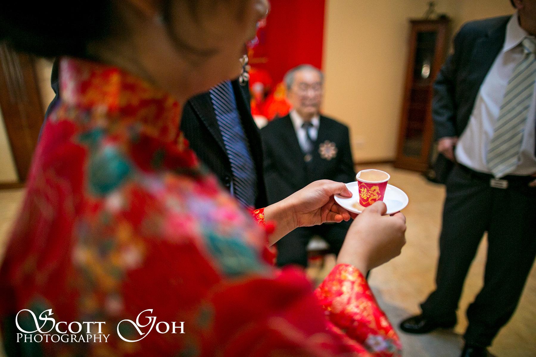 offering tea