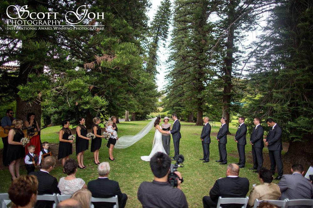 adelaide botanical garden wedding