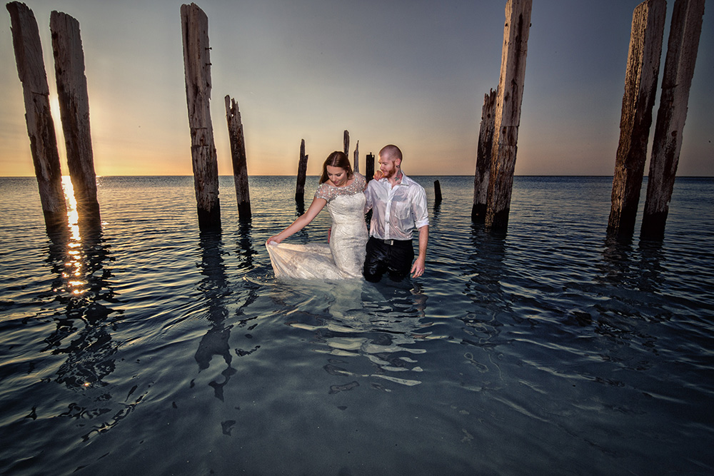 water trash the dress