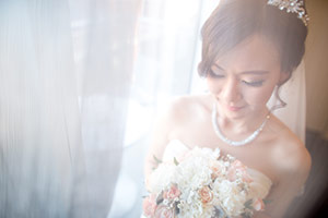 Asian wedding bride photo in South Australia