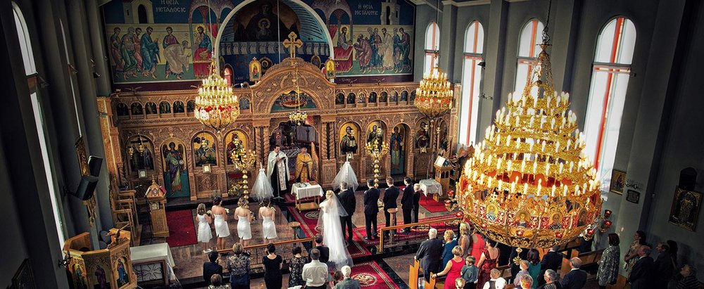 Italian Greek orthodox church wedding