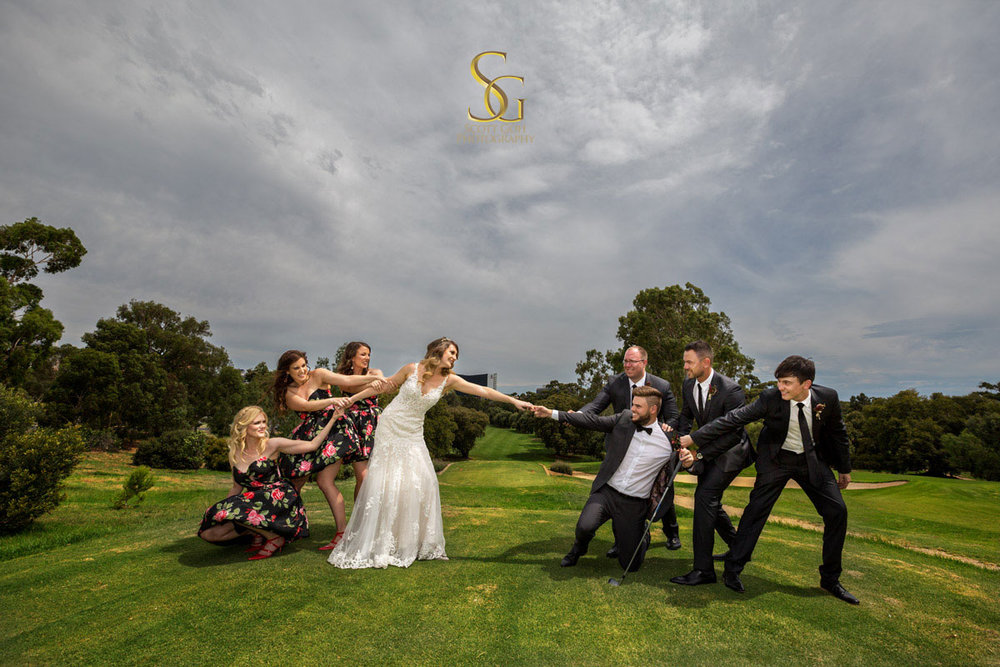 Fun bridal party Adelaide Wedding