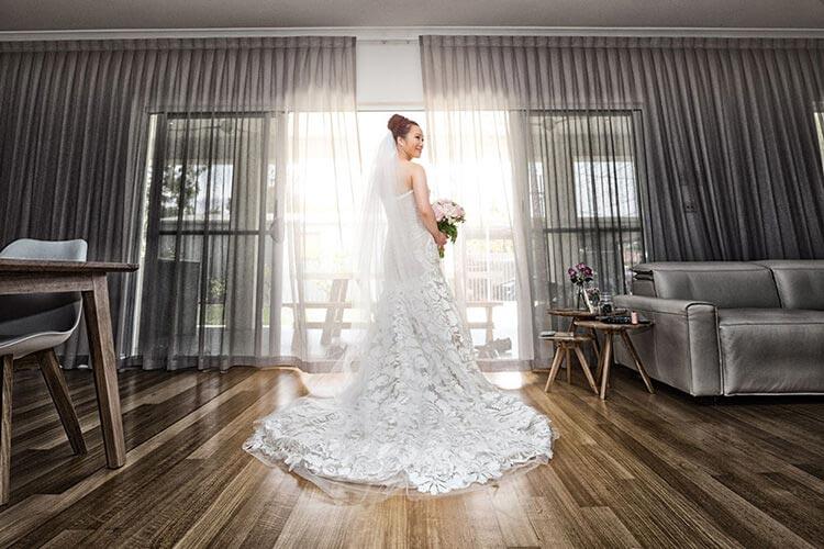 bride alone wedding photography