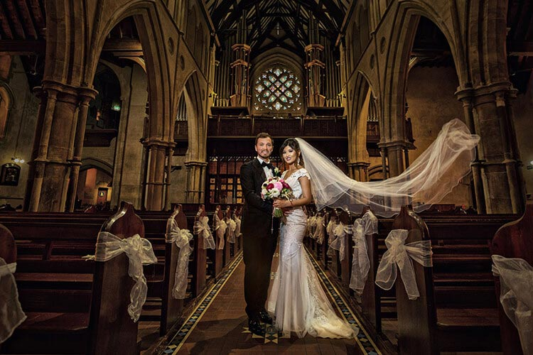 st Francis Xavier Cathedral wedding photography