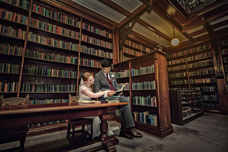 Mortlock wing SA state library wedding photo