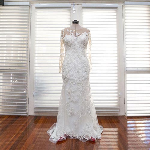 tailored wedding dress