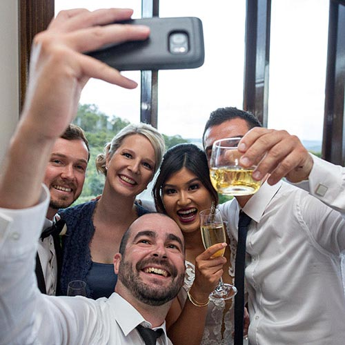 bridal wedding selfie photography