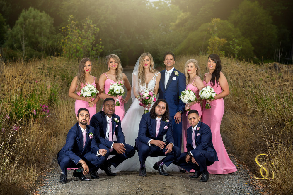 best alru farm wedding bridal party photo
