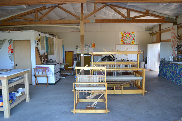 beautiful looms in the workshop space
