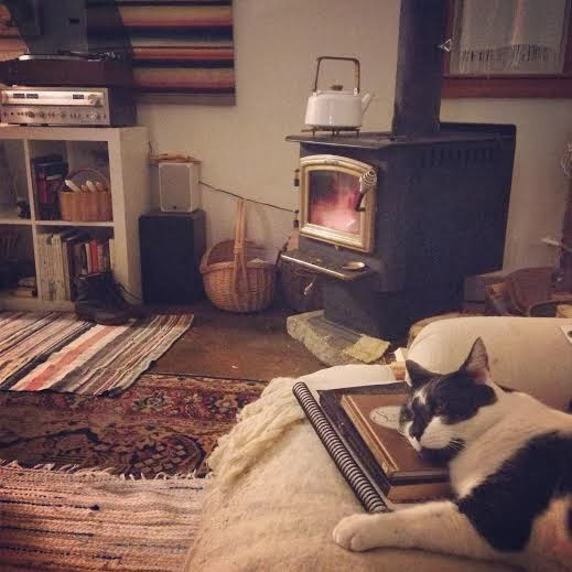 Fireside times with Captain and Eloise