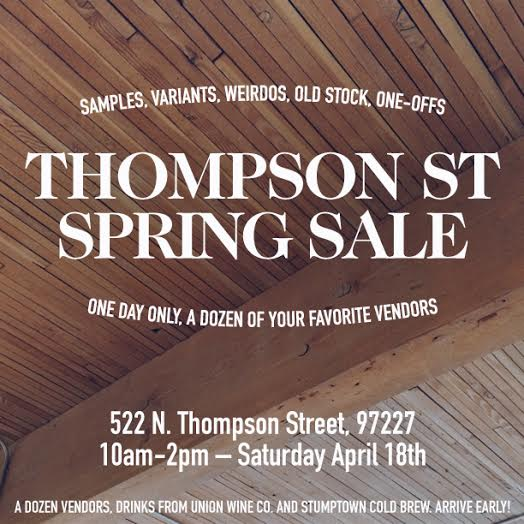 Thompson Street Spring Sale