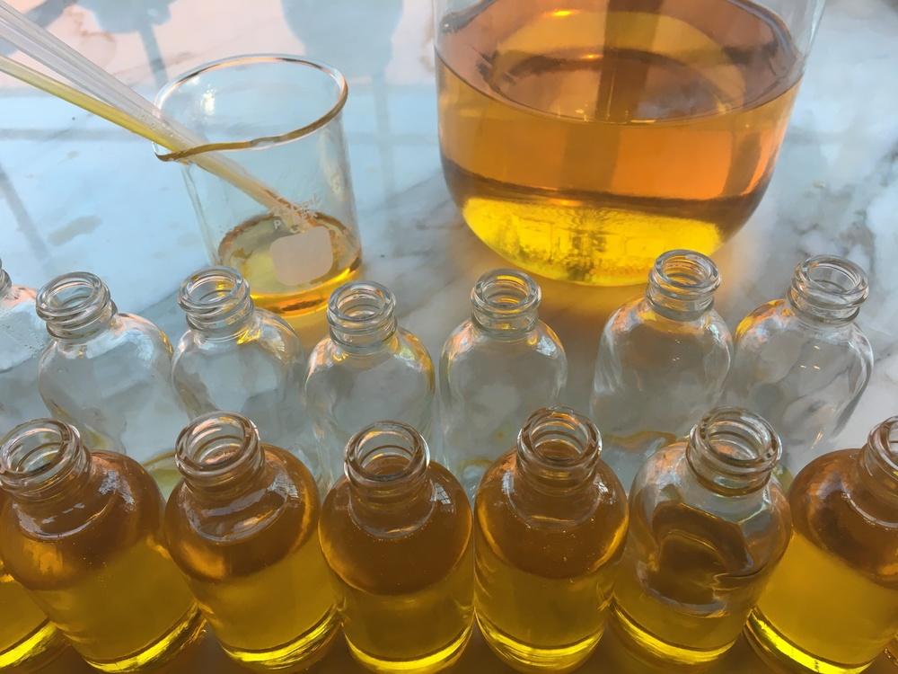 cedar + rose body oil