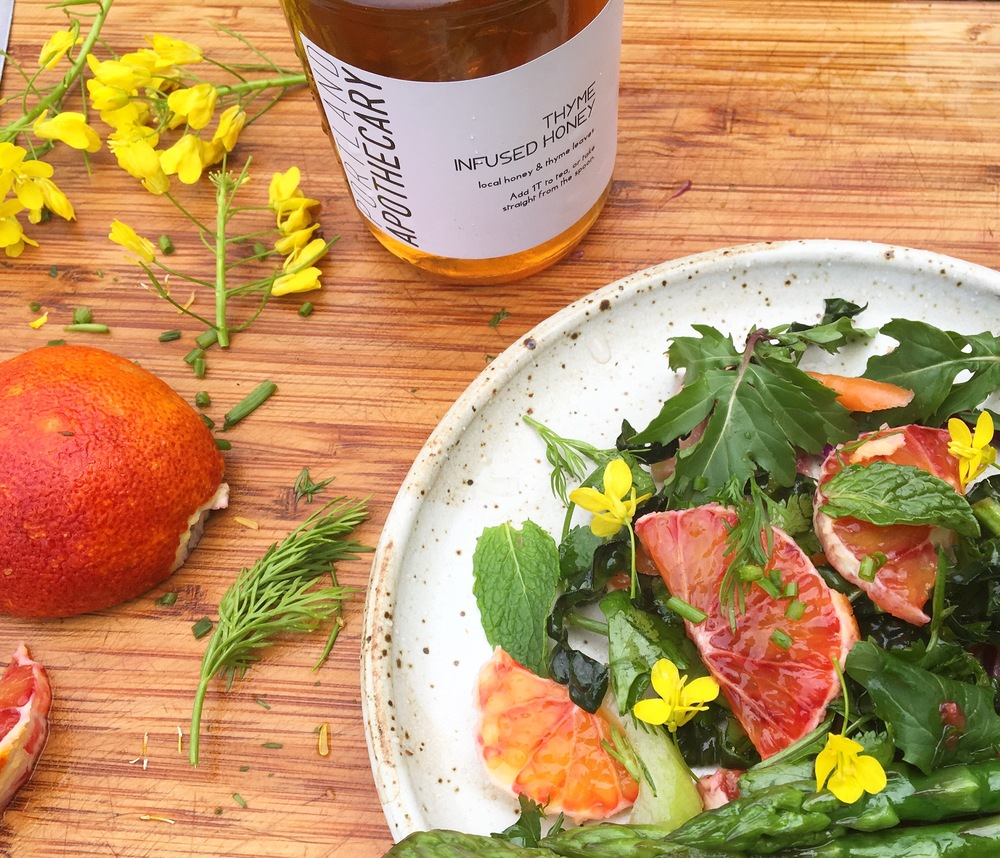 thyme honey + blood orange