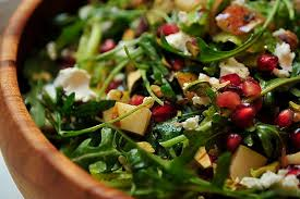Arugula,  Pear and Pomegranate Salad  Serves 6-8