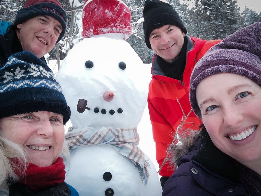 Jorge the snowman!